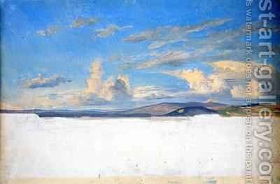 Cloud Study by Jacob Gensler - Reproduction Oil Painting
