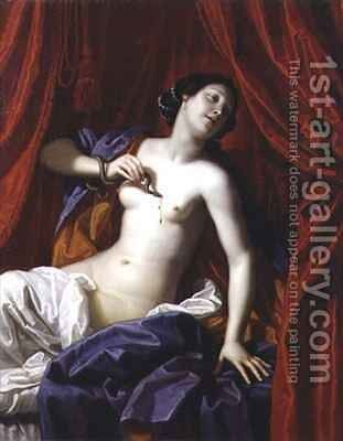 The Death of Cleopatra by Bartolomeo Gennari - Reproduction Oil Painting