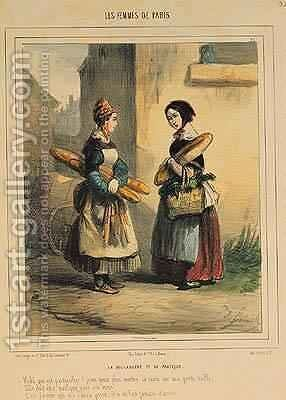 The Bakers Art plate number 27 from the Les Femmes de Paris series by Alfred Andre Geniole - Reproduction Oil Painting