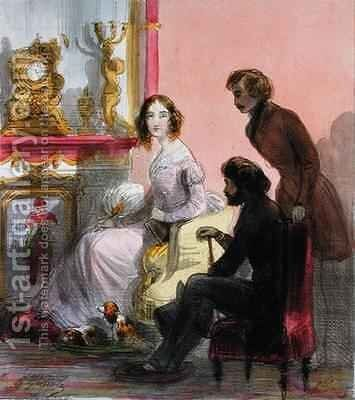 The Duchess by Alfred Andre Geniole - Reproduction Oil Painting