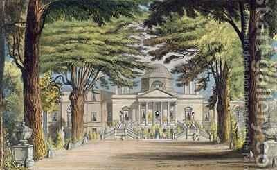 Principal front of Chiswick House by (after) Gendall, John - Reproduction Oil Painting