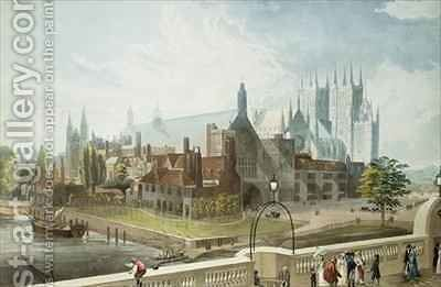 Westminster Hall and Abbey by (after) Gendall, John - Reproduction Oil Painting