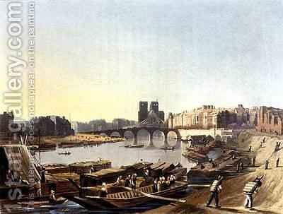 Notre Dame from Views on the Seine by (after) Gendall, John - Reproduction Oil Painting