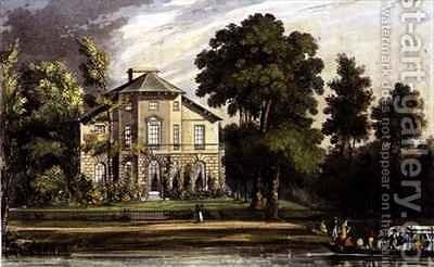 Mrs Palmers Villa by (after) Gendall, John - Reproduction Oil Painting