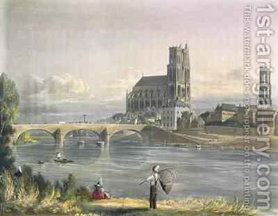 View of Mantes by (after) Gendall, John - Reproduction Oil Painting