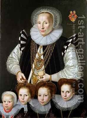 A Pair of Family Portraits by Gortzius Geldorp - Reproduction Oil Painting
