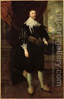 Portrait of William Style of Langley by Gortzius Geldorp - Reproduction Oil Painting