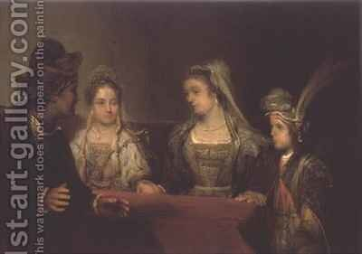 The Betrothal of Tobias by Aert De Gelder - Reproduction Oil Painting