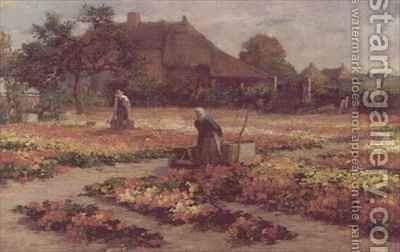 The Market Garden by Cesar Geezinck - Reproduction Oil Painting