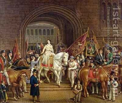 Lady Godiva Procession of 1829 by David Gee - Reproduction Oil Painting