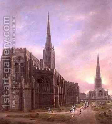St Michaels and Holy Trinity Churches by David Gee - Reproduction Oil Painting