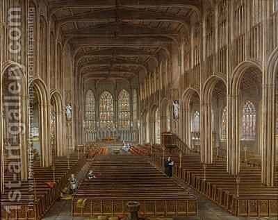 Interior of St Michaels Church Coventry by David Gee - Reproduction Oil Painting