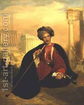 Portrait of George Cumming in a Turkish Costume by Andrew Geddes - Reproduction Oil Painting