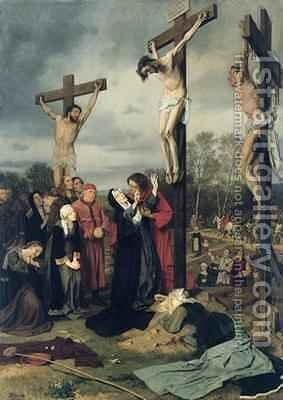Crucifixion by Eduard Karl Franz von Gebhardt - Reproduction Oil Painting