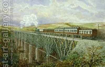 Cornwall Railway The Gover Viaduct by H. Geach - Reproduction Oil Painting