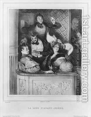 A front theatre box by (after) Gavarni, Paul - Reproduction Oil Painting