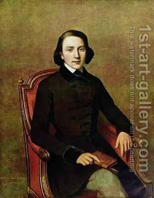 Portrait of Victor Hugo 1804-66 by (after) Gavarni, Paul - Reproduction Oil Painting