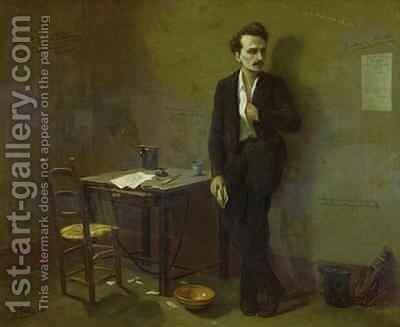 Henri Rochefort 1831-1913 in Mazas Prison by Armand Gautier - Reproduction Oil Painting