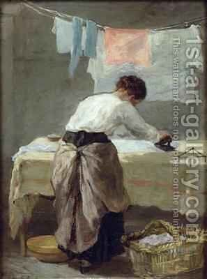Woman Ironing by Armand Gautier - Reproduction Oil Painting
