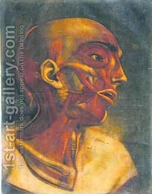 Musculature of the face by Jacques - Fabien Gautier - Dagoty - Reproduction Oil Painting