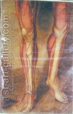 Musculature of the legs by Jacques - Fabien Gautier - Dagoty - Reproduction Oil Painting