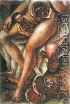 Woman and Baby by Jacques - Fabien Gautier - Dagoty - Reproduction Oil Painting