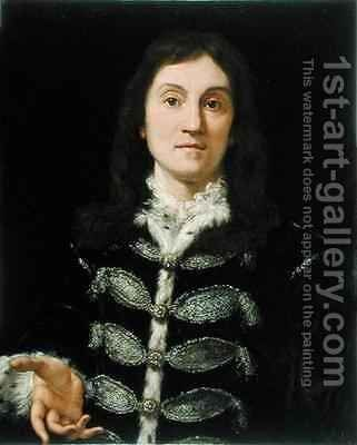 Portrait of a Man by Giovanni Battista (Baciccio) Gaulli - Reproduction Oil Painting