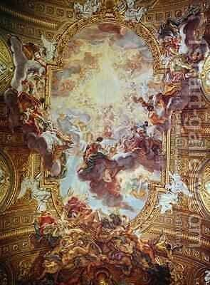 Triumph in the Name of Jesus 2 by Giovanni Battista (Baciccio) Gaulli - Reproduction Oil Painting