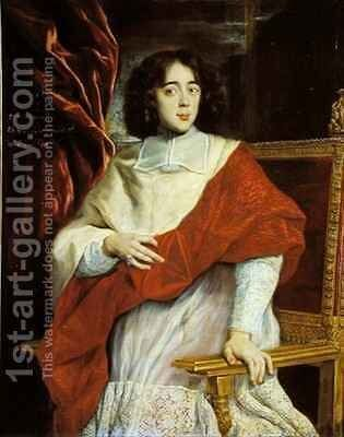 Emmanuel Theodose de la Tour dAuvergne 1643-1715 Cardinal de Bouillon by Giovanni Battista (Baciccio) Gaulli - Reproduction Oil Painting
