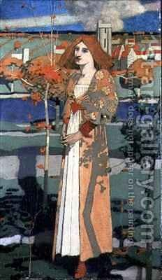 St Agnes by David Gauld - Reproduction Oil Painting
