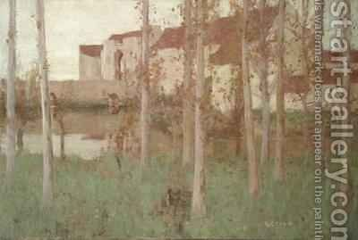 The Haunted Chateau Grez sur Loing by David Gauld - Reproduction Oil Painting