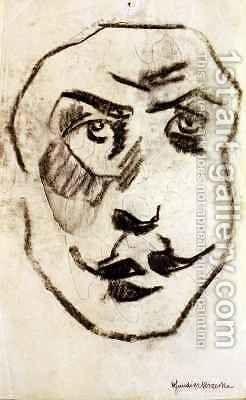Sculptural Head of Brodzky by Henri Gaudier-Brzeska - Reproduction Oil Painting