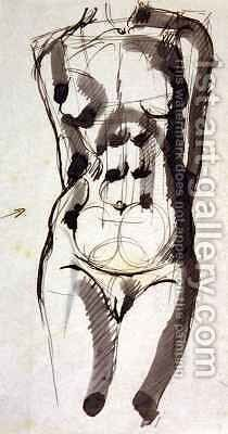 Female Torso by Henri Gaudier-Brzeska - Reproduction Oil Painting