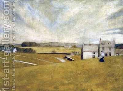 On the Common by Arthur Joseph Gaskin - Reproduction Oil Painting
