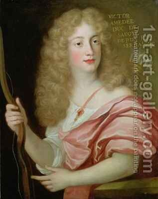 Portrait of Victor Amadeus II Duke of Savoy 1666-1730 by Henri Gascard - Reproduction Oil Painting