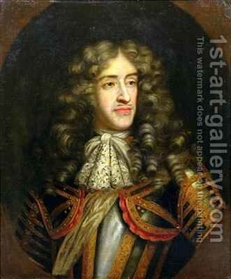 Portrait of James Duke of York 1633-1701 as Lord High Admiral by Henri Gascard - Reproduction Oil Painting
