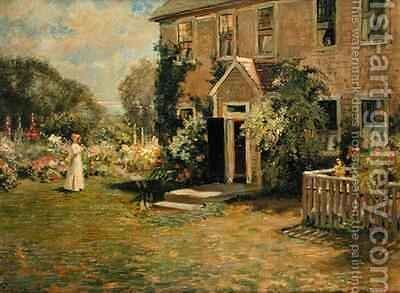 A New England Cottage by Edmund Henry Garrett - Reproduction Oil Painting
