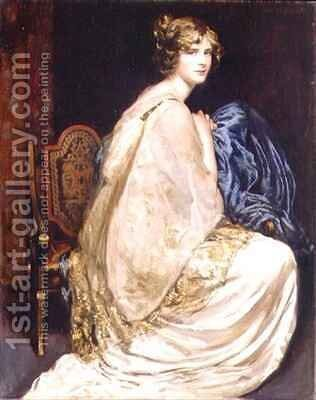 Blue White and Gold by Arthur Paine Garratt - Reproduction Oil Painting