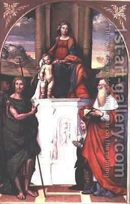 Madonna and Child with SS John the Baptist and Jerome by Garofalo - Reproduction Oil Painting