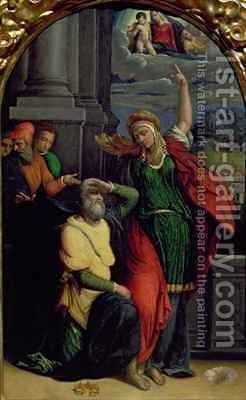 Augustus and the Tiburtine Sibyl by Garofalo - Reproduction Oil Painting