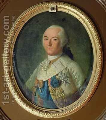 Portrait of Louis Philippe Joseph dOrleans 1747-93 Duke of Chartres in the Costume of the Grand Master of the Freemasons by Michel Garnier - Reproduction Oil Painting