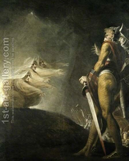 Macbeth and the Witches by Johann Henry Fuseli - Reproduction Oil Painting