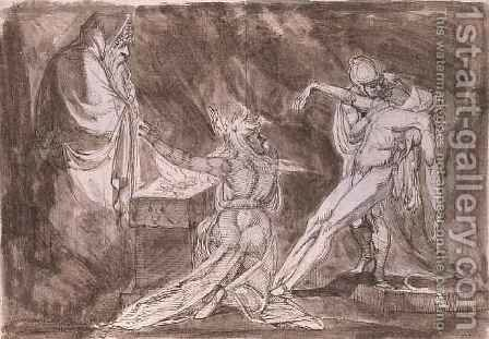 Study for Saul and the Witch of Endor by Johann Henry Fuseli - Reproduction Oil Painting