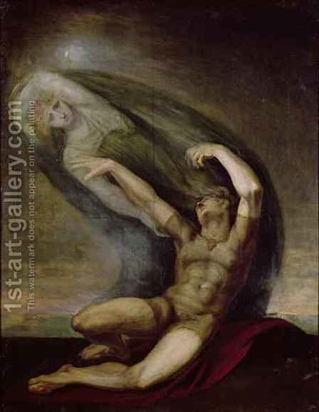 Achilles Searching for the Shade of Patrocles by Johann Henry Fuseli - Reproduction Oil Painting