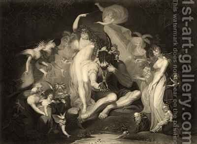 Scene from Act IV Scene I of A Midsummer Nights Dream by William Shakespeare by Johann Henry Fuseli - Reproduction Oil Painting
