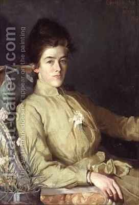 Portrait of a young woman by Charles Wellington Furse - Reproduction Oil Painting
