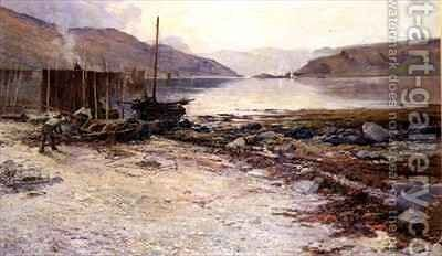 Kyles of Bute by David Fulton - Reproduction Oil Painting