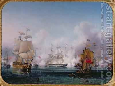 Episode of the Battle of Navarino by Ambroise-Louis Garneray - Reproduction Oil Painting