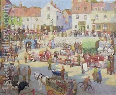 Romford Market by Edith Mary Garner - Reproduction Oil Painting