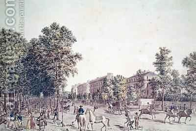 The Grands Boulevards in 1804 by (after) Garbizza, Angelo - Reproduction Oil Painting